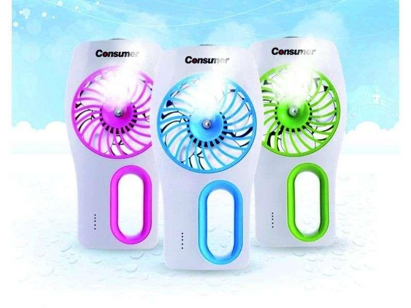 Mini ventilador humidificador - 0