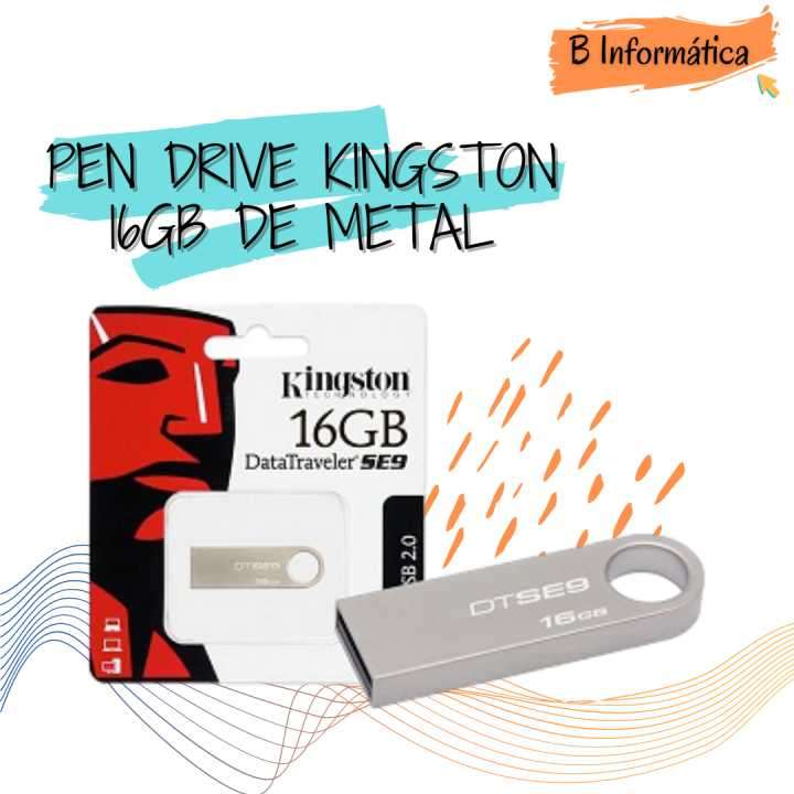 Pendrive Kingston 16 gb de metal - 0