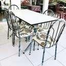 Juego de comedor 6 sillas con mesa de formica - 0