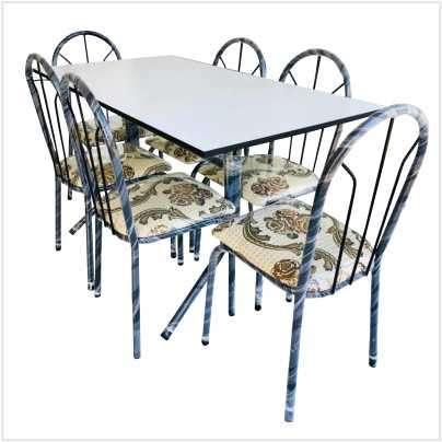 Juego de comedor 6 sillas con mesa de formica - 1