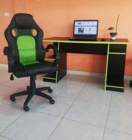 Escritorio mesa gamer NT2020 verde negro Abba - 1