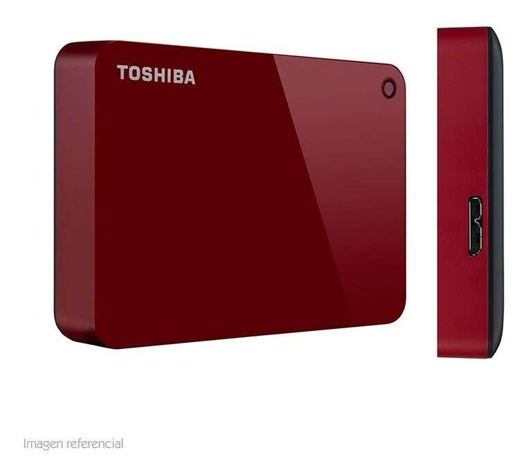 HDD externo 2.0 TB Toshiba Canvio Advance USB 3.0 rojo - 1