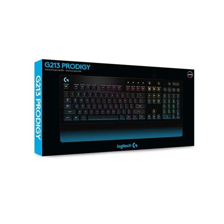 Teclado Gamer Logitech G213 Prodigy RGB Inglés - 0