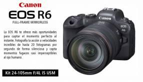 Cámara Canon EOS R6 Kit 24-105mm F/4L IS USM