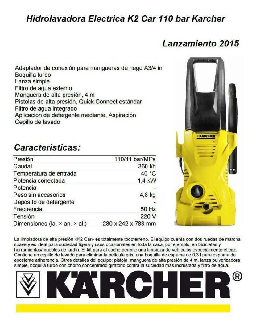 Hidrolavadora Karcher - 1
