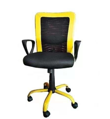Silla giratoria Style respaldo lumbar amarillo - 0