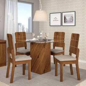 Conjunto Formosa 4 sillas dama dj rústico Terrara