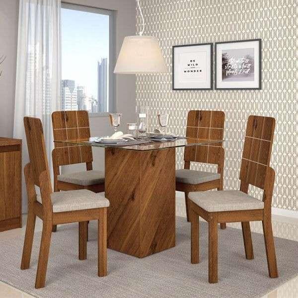 Conjunto Formosa 4 sillas dama dj rústico Terrara - 0