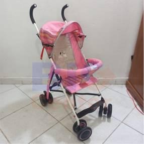 Carrito para bebé de paseo bastón rosa baby 2562