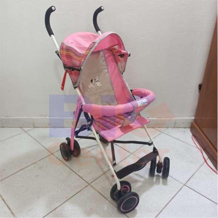 Carrito para bebé de paseo bastón rosa baby 2562 - 0