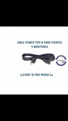Cable power para pc o monitores