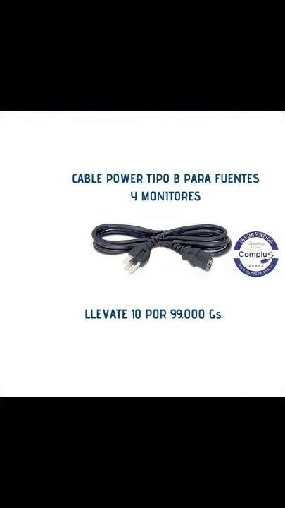 Cable power para pc o monitores - 0