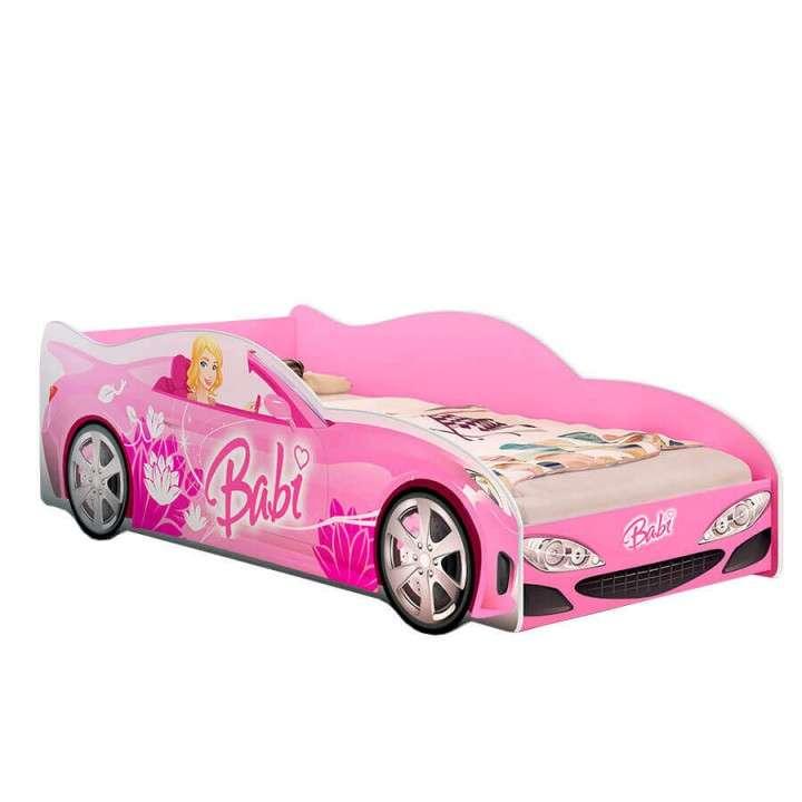 Cama auto Babi Abba rosa sin colchón - 0