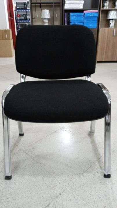 Silla fija pata cromada asiento acolchado - 1