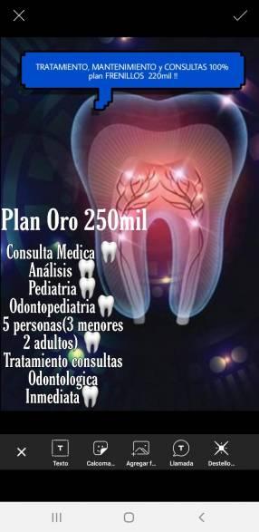 Plan odontológico completo 5 personas