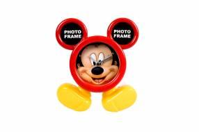 Reloj con Portarretrato con Diseño de Mickey Mouse