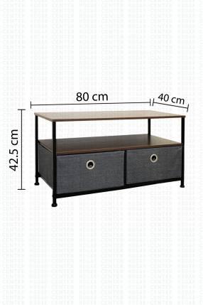 Mueble de Madera con Cajones de Tela