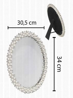 Espejo con Detalles de Perlas