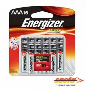 Pila alcalina Energizer AAA pequeña E92 BP16