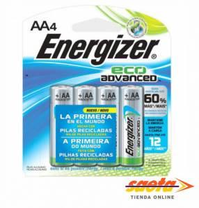 Pila Energizer alcalina Eco Advanced AA C/4 BP4 XR91BP-4MX
