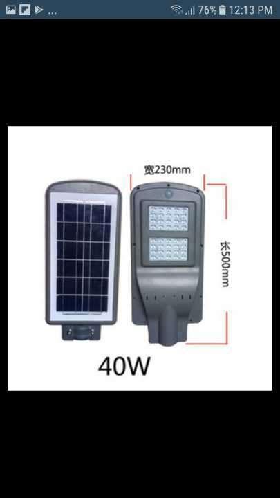 Luz solar led 40W para jardín - 1