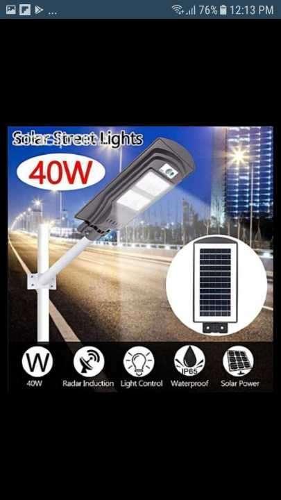 Luz solar led 40W para jardín - 0
