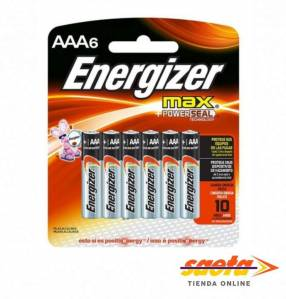 Pila Energizer MAX AAA E92-BP6