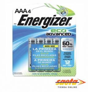 Pila alcalina Energizer Eco advanced XR92BP X4