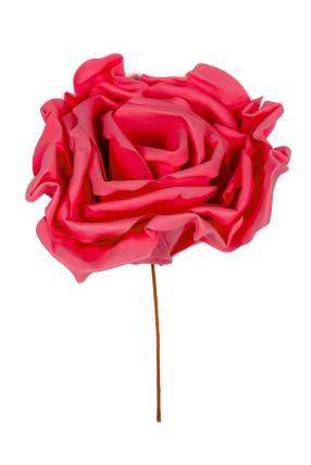Rosa artificial color rojo 55cm