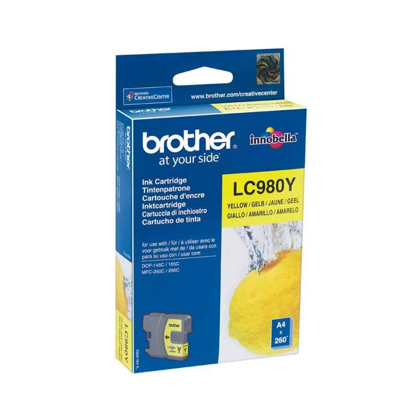 Cartucho brother lc980y yellow p/dcp-165/mfc290 - 0