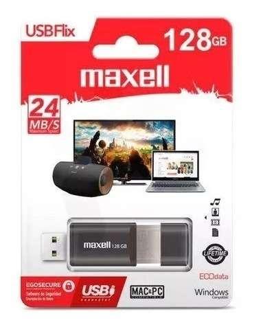 Pendrive 128gb maxell 3.0 negro