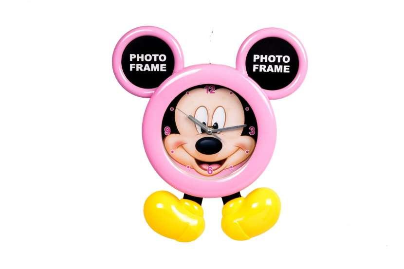 Reloj con Portarretrato con Diseño de Mickey Mouse - 0