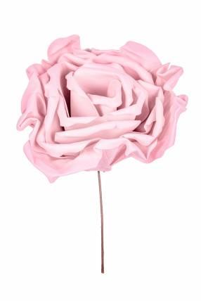 Rosa artificial rosado claro 55 cm