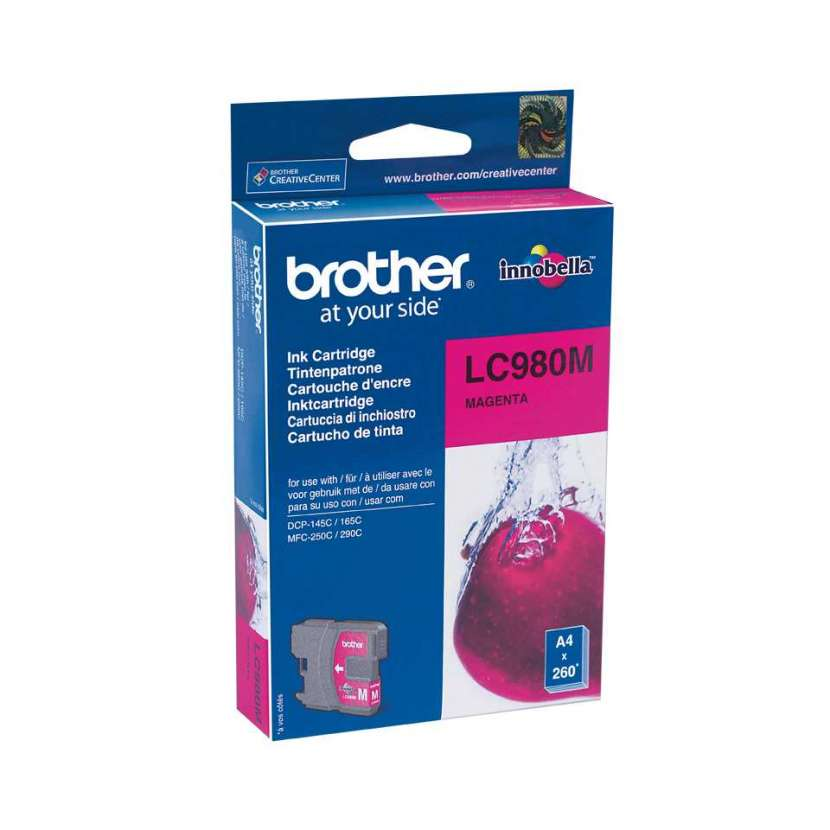 Cartucho brother lc980m magenta p/dcp-165/mfc290 - 0
