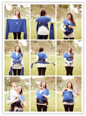 Fular ergonómico para bebé de la marca Agapichu