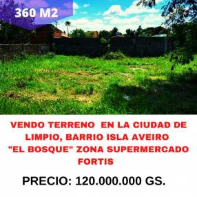 Terreno en Limpio barrio Isla Aveiro El Bosque