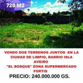 Terrenos en Limpio barrio Isla Aveiro El Bosque