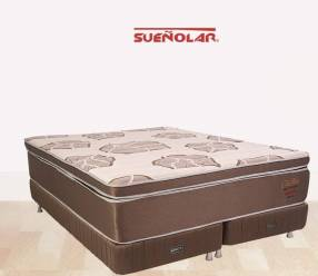 Base y colchón sommier Sueñolar Trimax 200x200 base dividida 120 kilos