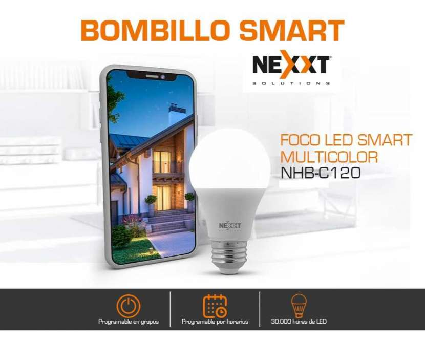 Foco led smart Nexxt NHB-C120 RGB 800 lúmens