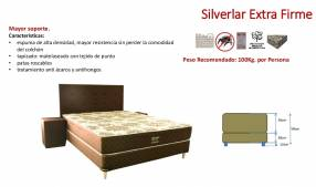 Sommier Sueñolar Silverlar extra firme con cabecera y mesitas marrón 160x200 cm