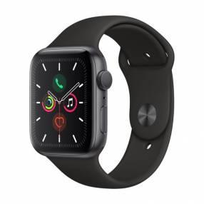 Apple Watch S5 caja de aluminio correa deportiva negra