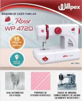Máquina de coser multifunción Willpex Rosse WP4720