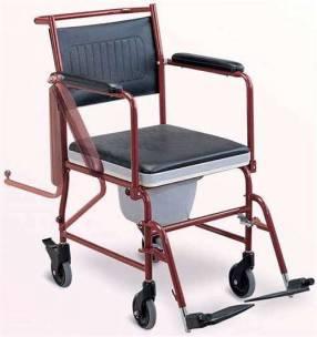 Silla de ruedas con opción sanitaria