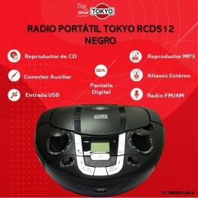 Radio portátil Tokyo rcd5 12 negro gris