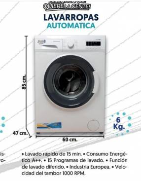 Lavarropas automática JAM