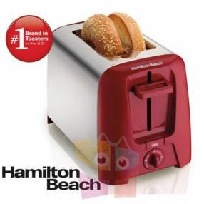 Tostadora de 2 Rebanadas Hamilton Beach Rojo 22623-BZ220
