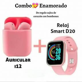 Smartwatch D20 y auricular bluetooth i12
