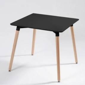 Juego de mesa Eames 80x80cm con 4 sillas
