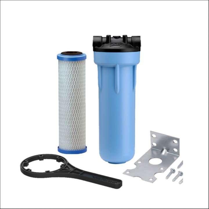 Purificador de agua carcasa con cartucho carbón activado - 0