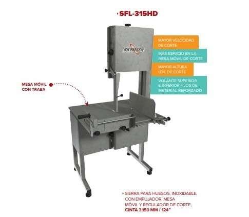 Sierra para huesos Skymsen inox con mesa móvil modelo SFL-315HD 2 - 0